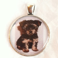 Yorkie-Poo! Or...YOUR pet picture preserved in a necklace. Contact me for personalization. So adorable! Your unique pendant necklace charm.