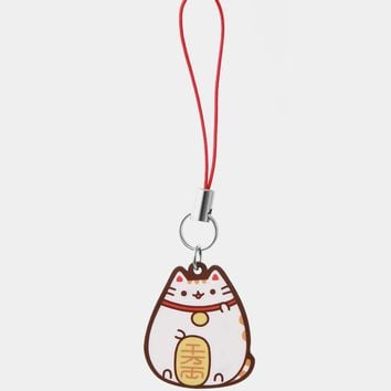 Limited Edition White Maneki Pusheen phone charm