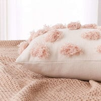 Diya Spotted Fringe Bolster Pillow | Urban Outfitters