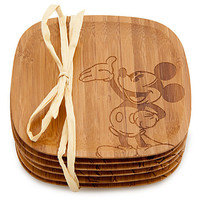 Disney Bamboo Mickey Mouse Coaster Set -- 6-Pc. | Disney Store