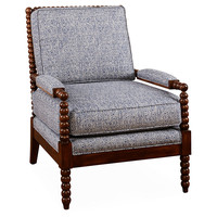 Bankwood Spindle Chair, Indigo, Accent & Occasional Chairs