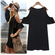 Butterfly Sleeve Dress - Black