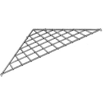 AF-038 Triangle Gridwall Shelf