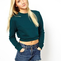 ASOS Cropped Boyfriend Sweatshirt at asos.com