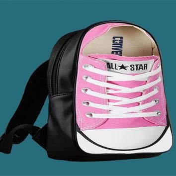 Converse Pink for Backpack / Custom Bag / School Bag / Children Bag / Custom School Ba