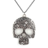 Floral Skull Necklace