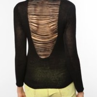 Sparkle & Fade Slashed Back Sweater