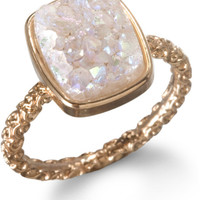 Dara Ettinger Pink Nadia Stackable Druzy Ring
