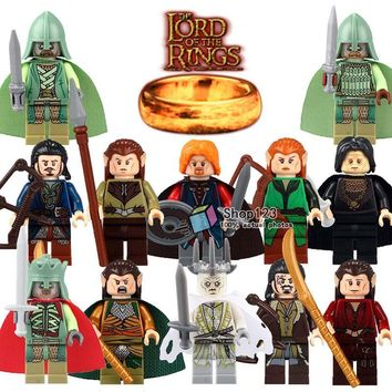 1 PC On Sale Witch-King Elrond Bard the Bowman Lord of the Rings King & Soldier Of The Dead Model Building Blocks Children Toys