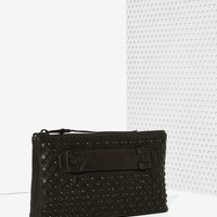 She + Lo Nex Chapter Studded Leather Clutch