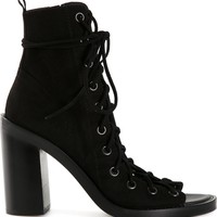 Ann Demeulemeester Block Heel Lace-up Shoe - H. Lorenzo - Farfetch.com