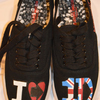 One Direction MidNight Memories Hand Painted Shoes