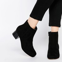 River Island 60s Boots with Block Heel at asos.com