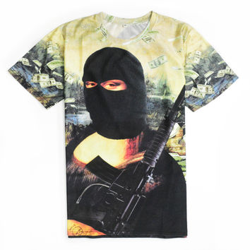 YNM Gangster Mona Lisa T-shirt