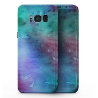 Blue 89608 Absorbed Watercolor Texture - Samsung Galaxy S8 Full-Body Skin Kit
