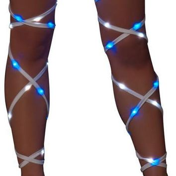 "Roma RM-3244 Illuminated Light up 100"" Leg Straps"
