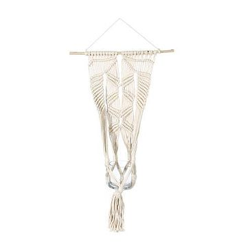 "SOUL OF THE PARTY 32"" MACRAME WALL PLANT HANGER"