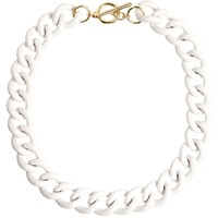 River Island Clean White Cobra Chain Short Necklace