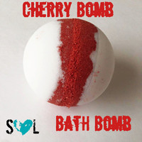 Cherry Bomb Bath Bomb- Jumbo Bath Bombs 8 oz- Cherry Bath Fizzy- Cherry Bath Bomb- Red Bath Bomb