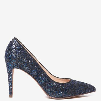 Cobalt Glitter 'Emily' Court Shoes | Dorothyperkins