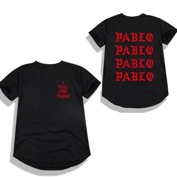 2018 Kanye West The Life Of Pablo Kanye t shirt Men Summer Brand Clothing T-Shirt I Feel Like Paul Kanye Men's T-Shirt S-2XL