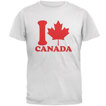 I Love Maple Leaf Heart Canada Mens T Shirt