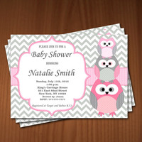 Owl Baby Shower Invitation Girl Baby Shower invitations Printable Baby Shower Invite -FREE Thank You Card - editable pdf Download (534) rose