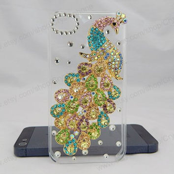 Colorfull Phoenix Pearl  bling iphone 6 case iphone 6 case iphone 5S 5c iphone 4 case samsung galaxy s4 case note3 s3 case bling crystal