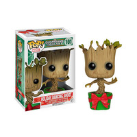 Holiday Dancing Groot Pop Heroes Bobble-Head Vinyl Figure