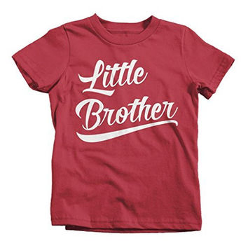 Shirts By Sarah Boy's Little Brother T-Shirt Sibling Shirts Matching Tees