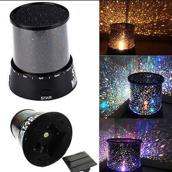 Romantic Color Bedroom Cosmos Star Master Projector Starry Night Sky Light Lamp