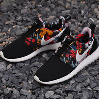 NIKE 2015 Special conter rosh run florals/flowers for  women hyperfuses rushe one prints color rose