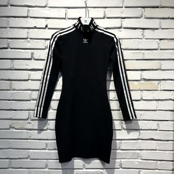 adidas Originals X Hu Hiking Slim Long-sleeve Dress Black