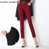 2017 Spring New Fashion High Quality Pencil Pants For Women Office OL Style Work Wear  Skinny Pants Female Ankle-Length Pants