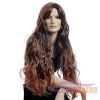 "26"" long Wavy with Bangs Synthetic Wigs for Women Basic Cap Colorful"