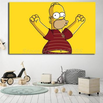 Homer Simpson Wallpapers Wall Art Canvas Posters Prints Painting Wall Pictures For Modern Office Living Room Home Decor Nordic