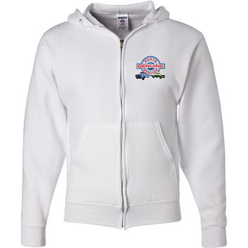 Ford Trucks Full Zip Hoodie Genuine Parts Service Pocket Print