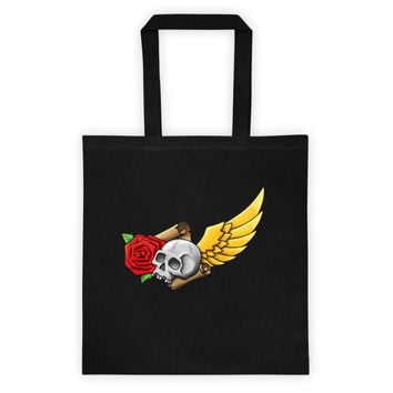 Skull and Rose Tattoo-inspired  All-around Tote