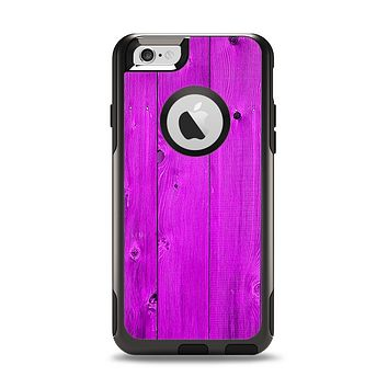 The Purple Highlighted Wooden Planks Apple iPhone 6 Otterbox Commuter Case Skin Set