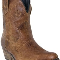 Dingo Women's Adobe Rose Boot - Light Brown Distressed