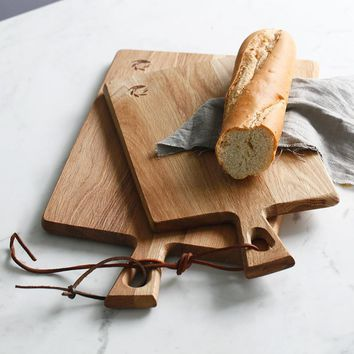 Natural Wood Chopping Block and Cutting Board