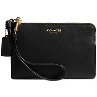 COACH SMALL WRISTLET IN SAFFIANO LEATHER