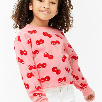 Girls Cherry Print Sweatshirt (Kids)