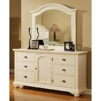 Elements Brook White Collection Dresser & Mirror