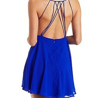STRAPPY CAGED SKATER DRESS