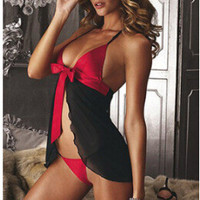 On Sale Hot Deal Cute Spaghetti Strap Sexy Dress Exotic Lingerie [6595494211]