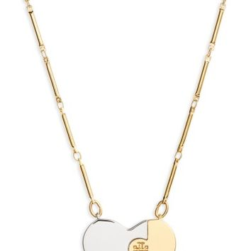 Tory Burch Puzzle Heart Pendant Necklace | Nordstrom