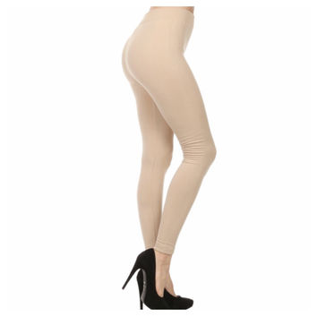 """A Touch of Heaven""  No Peek-a-Boo See Through Khaki Sand Leggings"