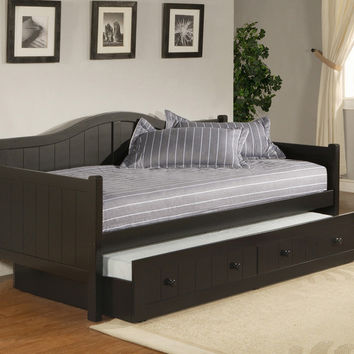 1572-staci-daybed-w-trundle-black - Free Shipping!