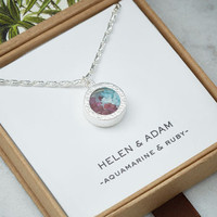 Mixed Birthstone Locket